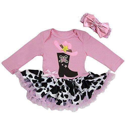 Petitebella Light Pink Cow Petti Skirt 1-8y