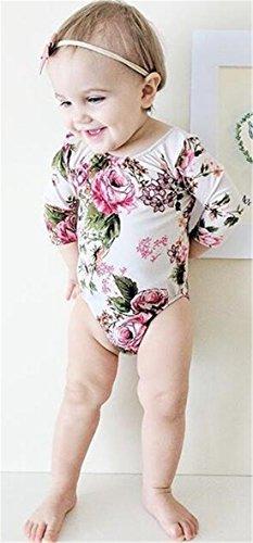 Bodysuits - BANGELY Kids Baby Floral Print Long Sleeve ...